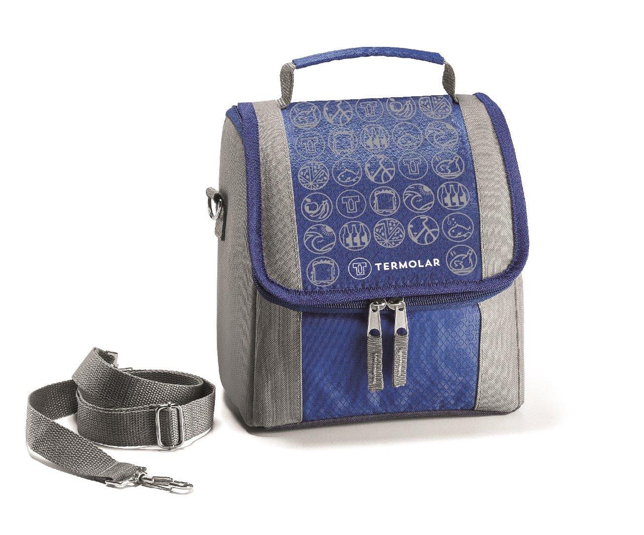 Kit Bolsa Térmica Termobag 5L + Garrafa Térmica Squeeze Moove 450ml Azul 2