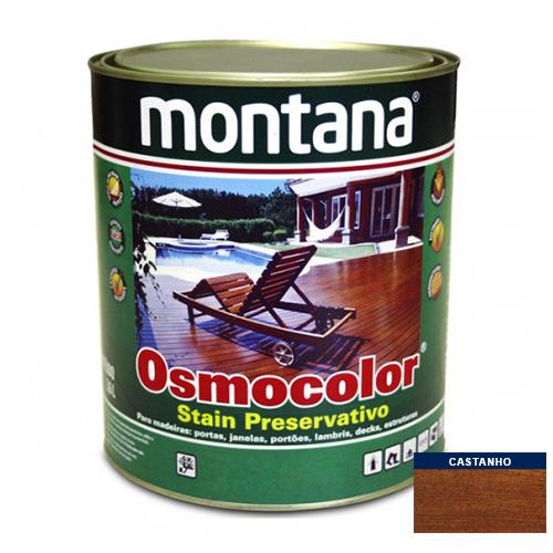 Stain Acetinado Castanho UV Deck Osmocolor Montana 0,9l