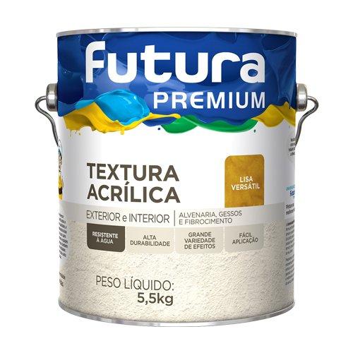 Textura Acrílica Lisa Versátil Premium Futura 3,6l