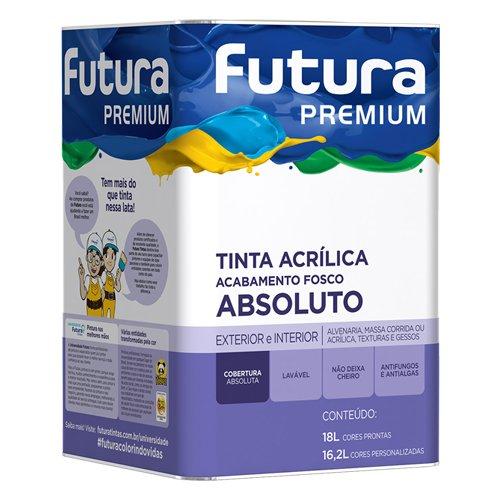 Tinta Acrílica Fosco Branco Premium Futura 18l