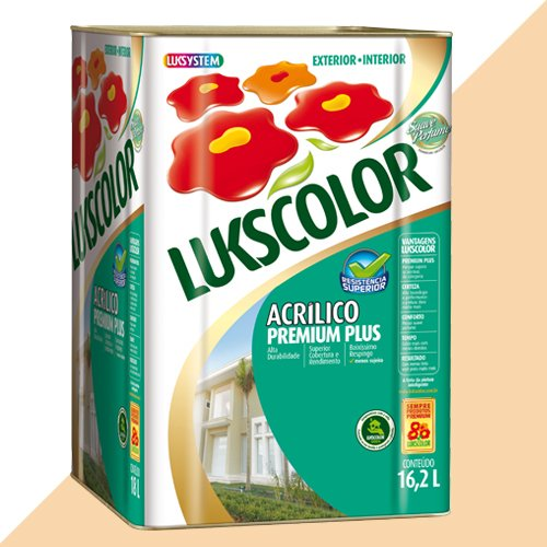 Tinta Acrílica Fosco Pérola Premium Lukscolor 16,2l