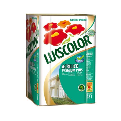Tinta Acrílica Semibrilho Branco Premium Lukscolor 18l