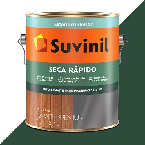 Tinta Esmalte Acetinado Verde Efeito Lousa Seca Rápido Suvinil 3,2l