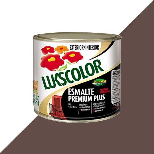 Tinta Esmalte Brilho Marrom Premium Lukscolor 0,225l