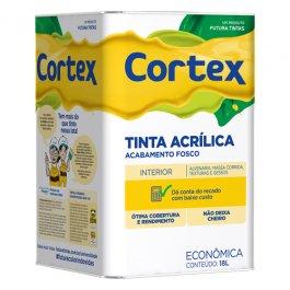 Imagem - Tinta Acrílica Fosco Branco Cortex Econômica Futura 18l