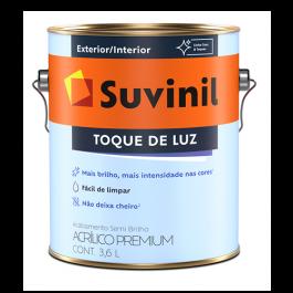 Imagem - Tinta Acrílica Semibrilho Branco Premium Suvinil 3,6l