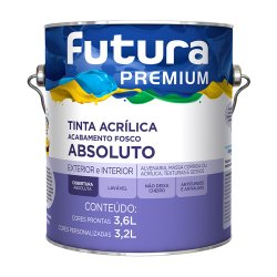 Tinta Acrílica Fosco Branco Premium Futura 3,6l