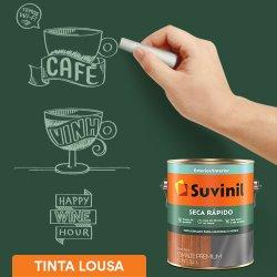 Tinta Esmalte Acetinado Verde Efeito Lousa Seca Rápido Suvinil 3,2l 3