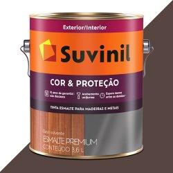 Tinta Esmalte Brilho Marrom Suvinil Cor e Proteção - Tintomax