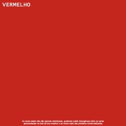 Tinta Esmalte Brilho Vermelho Base Água Lukscolor 0,9l 2