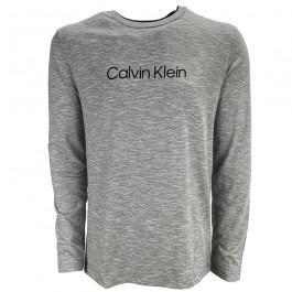 Imagem - Camiseta Calvin Klein Institucional Mescla Cinza Masculina