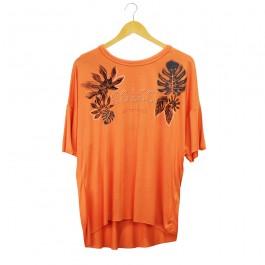 Imagem - Camiseta Colcci Laranja Feminina