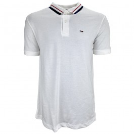 Imagem - Camisa Polo Tommy Jeans Classics Tipped Branca