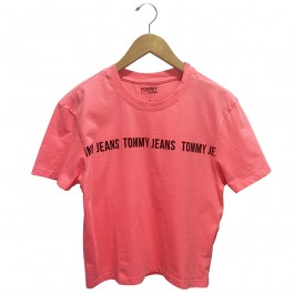 Imagem - Camiseta Tommy Jeans Rosa Feminina