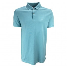 Imagem - Camisa Polo Calvin Klein Azul Masculina