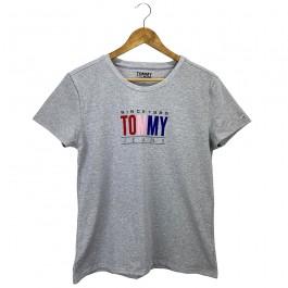 Imagem - Camiseta Tommy Jeans Cinza Feminina