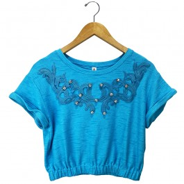 Imagem - Blusa Carmim Bucle Azul Feminina