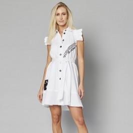 Imagem - Vestido Carmim Tric Branco Feminino