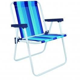 Imagem - Cadeira Alta Dobrável Mor Colorida com Apoio de Braço Azul cód: 7141432