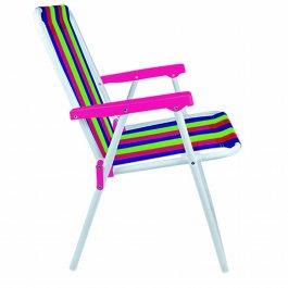 Imagem - Cadeira Alta Dobrável Mor Colorida com Apoio de Braço Rosa cód: 7141431