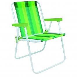 Imagem - Cadeira Alta Dobrável Mor Colorida com Apoio de Braço Verde cód: 7141433