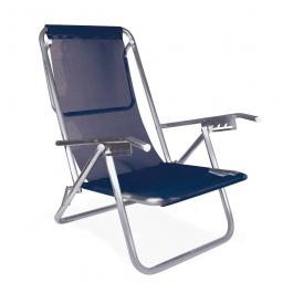 Imagem - Cadeira Reclinável 5 Posições Azul Alumínio cód: 7141583