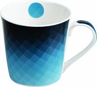 Imagem - Caneca 270ML Porcelana Azul Geometrico cód: 72200111