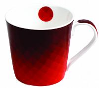 Imagem - Caneca 270ML Porcelana Vermelho Geometrico cód: 72200112