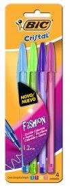 Imagem - Caneta Bic Cristal Fashion C/4 cód: 6135034
