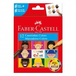 Imagem - Caneta Hidrográfica Caras E Cores Faber Castell C/12 cód: 61350417