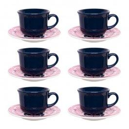 Imagem - Conjunto Chá Oxford 12 Peças Estampado Cerâmica cód: 7220054
