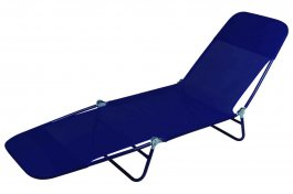 Imagem - Espreguiçadeira Textilene Azul