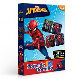 Imagem - Jogo de Dominó Homem Aranha Marvel 150 Peças Novo Papel cód: 6304016