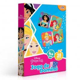 Imagem - Jogo De Dominó Princesas Disney 28 Peças Novo Papel cód: 6304015