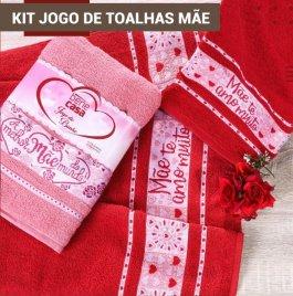 Imagem - Kit 2 Peças Toalha Rosto E  Banho Mães cód: 62421042