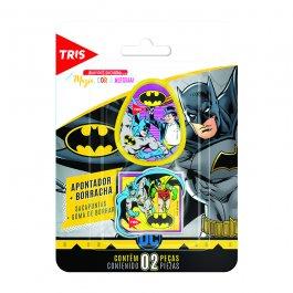 Imagem - Kit Apontador+Borracha Batman cód: 6135019