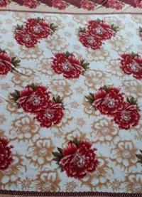 Imagem - Lençol Plush Casal Vermelho Floral cód: 6280127
