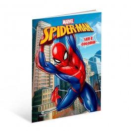 Imagem - Livro Spider Man Ler e Colorir cód: 6133012114