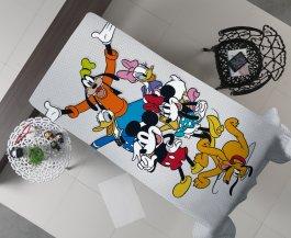 Imagem - Manta Decorativa Flanel Casal Mickey Chevron 175x220 cód: 3480205