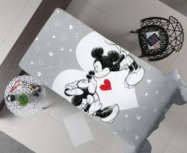 Imagem - Manta Decorativa Flanel Casal Mickey Love 175x220 cód: 3480204