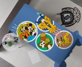 Imagem - Manta Decorativa Flanel Solteiro Mickey Friends 150x220 cód: 3480203