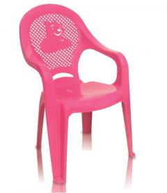 Imagem - Cadeira Poltrona Plástica Infantil Rosa cód: 7141256