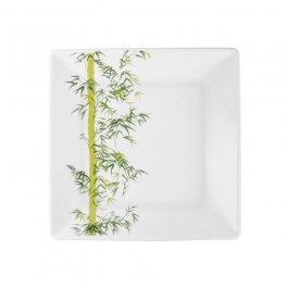 Imagem - Prato Oxford Quadrado 20 x 20 cm Sobremesa  Bamboo Porcelana cód: 72200525