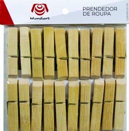 Imagem - Prendedor De Roupa 7cm Bambu 20pçs cód: 72557013