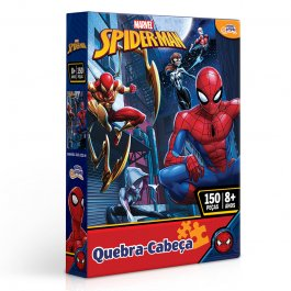 Imagem - Quebra Cabeça Homem Aranha Marvel 150 Peças Novo Papel cód: 6304013