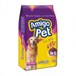 Imagem - Ração p/ Cães Adulto Amigo Pet 1kg cód: 7530354