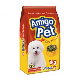 Imagem - Ração p/ Cães Pequeno Porte Amigo Pet 1kg cód: 7530353