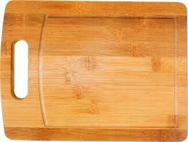 Imagem - Tábua Para Corte Bambu Retangular com Alça