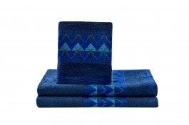 Imagem - Toalha Banho Barrada 70x135 Azul Jeans cód: 6242059