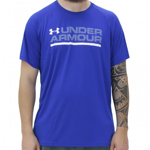 Camiseta Under Armour Wordmark Luck Up Ss